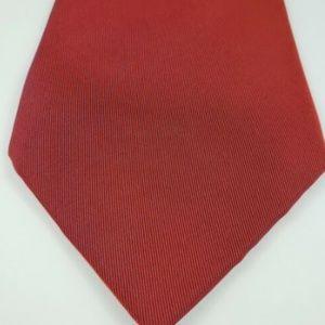Hermes Paris Men's Neck Tie Dark Red Solid